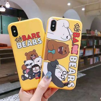 Cartoon cute three bear box for iPhone7 7plus sell cute funny phone case for iPhone6 6s 8 Plus X XS XR MAX phone case