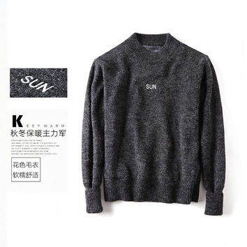 Thicken Sea Men's Fashion Winter High Neck Sweater [10350420163]