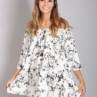 angel wings floral tunic