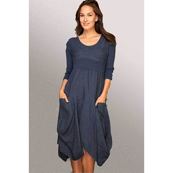 Italian Linen Dress by Inizio - Magic with 3/4 sleeve