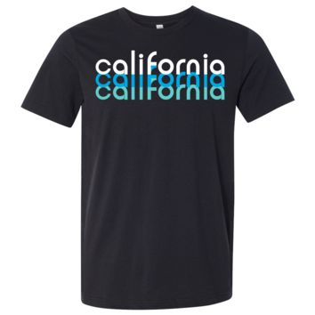 California Cool Stacked Asst Colors Mens Lightweight Fitted T-Shirt/tee