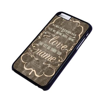 THE AVETT BROTHERS QUOTES iPhone 6 Case