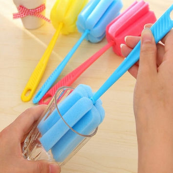 Kitchen Cleaning Tool Sponge Brush For Wineglass Bottle Tea Glass Cup Mug = 1705141188