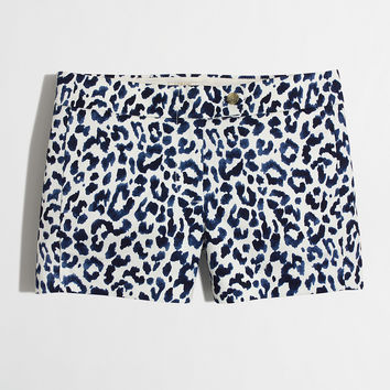 "Factory 3"" printed stretch chino short : The Getaway Shop 