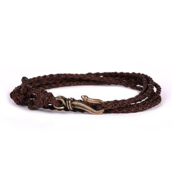 Brown Rope Men's Bracelet