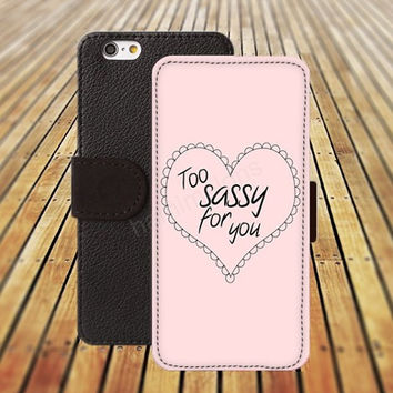 heart case sassy iphone 5/ 5s iphone 4/ 4s iPhone 6 6 Plus iphone 5C Wallet Case , iPhone 5 Case, Cover, Cases colorful pattern L011