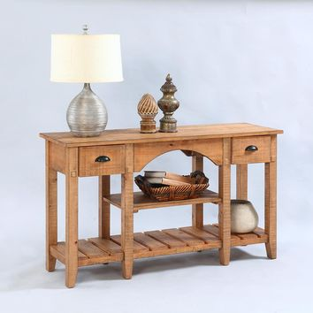 Willow Rustic Console Table Distressed Pine