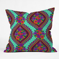 Aimee St Hill Ivy Teal Throw Pillow