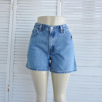 Vintage Levi Shorts Pin Up Daisy Dukes Hemmed Levi Denim Short Shorts Womens Junior 11 Jean Shorts