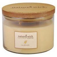 Nature's Wick 3-Wick Jar Candle - Vanilla Dolce : Target