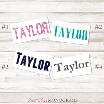 Blocky Personalized Name Vinyl Decal