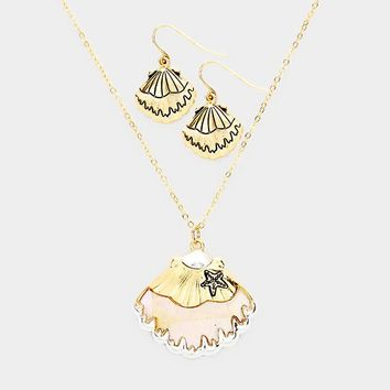 Mother of Pearl Shell Pendant Set