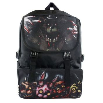 Game Five Nights at Freddy's Waterproof Laptop Backpack/Double-Shoulder Bag/School/Travel Nylon Bag