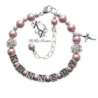 Personalized Baby Bracelet, Choose Your Color, Baptism Bracelet, Christening Bracelet, Baby Bracelet, Keepsake Bracelet, Baby Gift, Baptism