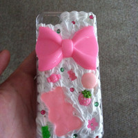 Pink Gummy Bear Whipped Cream iPhone 5 case