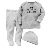 Carter's ''Perfect Gentleman'' Top & Footed Pants Set - Baby Boy, Size: