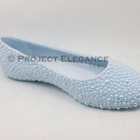 Blue Pearl Ballerina Flat Shoes Size US 5 6 7 8 9 10