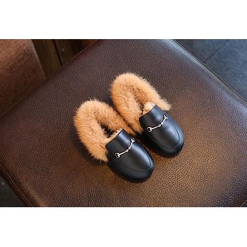 Baby shose witer Newborn Boy Girl Baby shoes fur Genuine Leather baby shoes