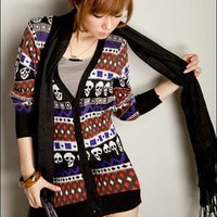 Super Hot Skull and Diamond Best of British Longline Cardigan by cupcake.kiss on Sense of Fashion