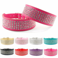 Leather Layered Bling Dog Collar