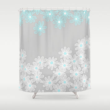 Grey And Blue Shower Curtains On Wanelo