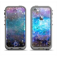 The Glowing Space Texture Apple iPhone 5c LifeProof Fre Case Skin Set