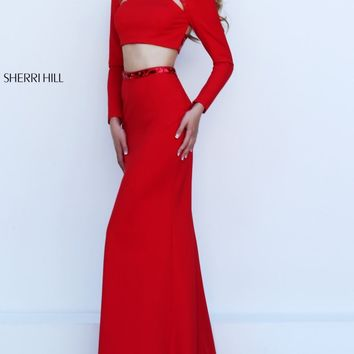 Beaded Two-Piece Gown by Sherri Hill