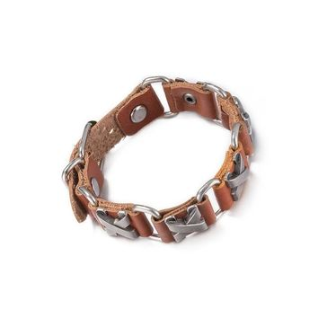 UNISEX Leather Punk Bracelet - X-Nail Design - Free Shipping - Allow 3-4Wks. Delivery Time