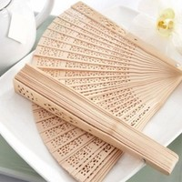 New Chinese Japanese Folding Hand Fan Festival Gift Original Wooden Hand Pocket Fan Hollow Bamboo Home Decor Party Decoracion