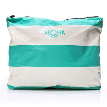 ALOHA Collection - Max Pouch | Ocean Waikiki Stripes