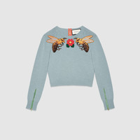 Gucci Wool embroidered knit top
