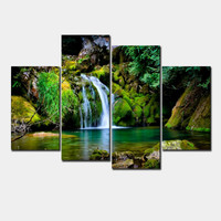 Framed art 4 panel canvas painting pictures on the wall print paintings home decor canvas wall art for living room h012