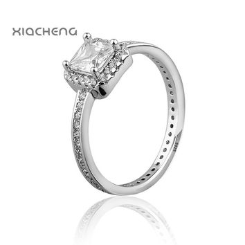 2016 Free Shipping 925 Sterling Silver Wedding Party Rings with cubic zirconia Ring Fit Pandora rings Women Rings #6 - #9 R31