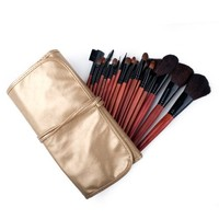 ALICE 18 Piece Makeup Brush Set and Case, For Eye Shadow, Blush, Concealer, Etc