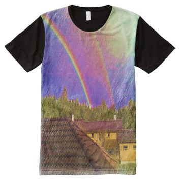 House and rainbow All-Over-Print shirt