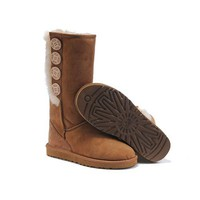 Ugg Boots Outlet Bailey Button Triplet 1878 Chestnut For Women 107 97