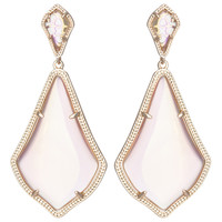 Kendra Scott Alexis Drop Earrings - Iridescent Peach