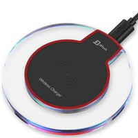 JETech Wireless Charger Charging Pad for Samsung Note 8, S9/S8/S8 Plus/S7/S7 Edge/S6, Apple iPhone 8/8 Plus, iPhone X, Nexus 7/6/5/4(2013), Nokia Lumia 920, LG Optimus Vu2, and More