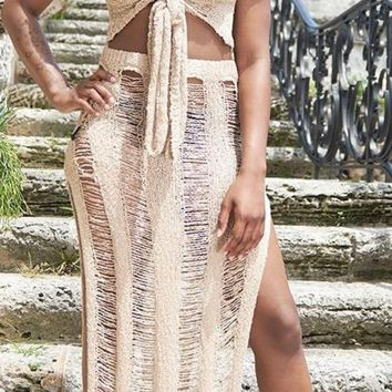 Tampa Hollow Out Two-Piece Beach Maxi
