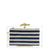 Captain Pandora Perspex clutch