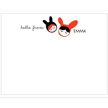 Dolls Note Card - Set of 24