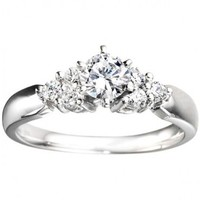 1/3ct tw Diamond Engagement Ring in 14K White Gold - Designer Prototypes - Engagement Rings