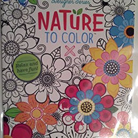 Nature to Color Coloring Book Design Series