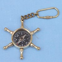 Wheel compass key chain  - Keychains -  Wooden Ship Models, Nautical Decor & Gifts - GoNautical