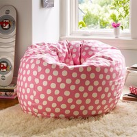 Pink Painted Dot Beanbag