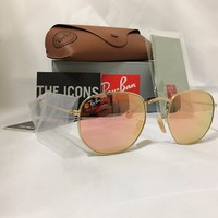 Ray-Ban Sunglasses RB3548N Hexagonal Flat Lenses 4 different colors
