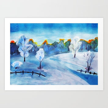 winter Art Print by AidaArt