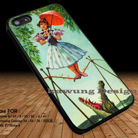 Girl with an Umbrella iPhone 6s 6 6s+ 5c 5s Cases Samsung Galaxy s5 s6 Edge+ NOTE 5 4 3 #cartoon #disney #animated #disneycastle DOP233