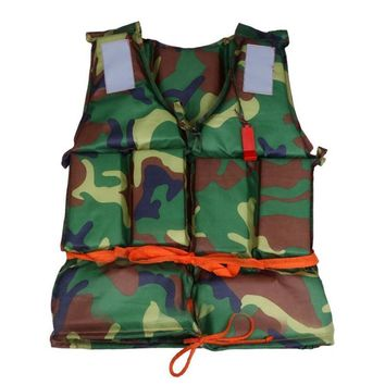 Camo Life Vest Water Sports Life Jacket Adult Life Jacket Universal Swimming Boating Ski Drifting Vest Outdoor Fishing Vest