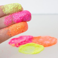 Extreme Pink Cosmetic Body Glitter - Makeup Sparkles Neon Vegan eye shadow